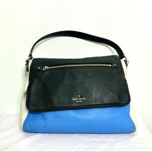 Kate Spade Blue Black Cream Shoulder Bag Purse